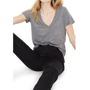 Madewell whisper pocket T in grey and small